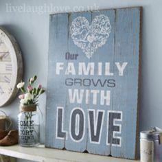 Family Grows With Love Sign
