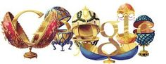 May 2012 Peter Carl Fabergé's Birthday //concept art Logo Google, Art Google, Information Art, Google Doodles, Faberge Eggs, Concept Art, Cartoon, Comics, Birthday
