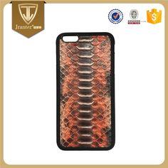Jranter OEM/ODM Genuine Leather Case for iPhone 6/7/7plus Python Skin Back Cover