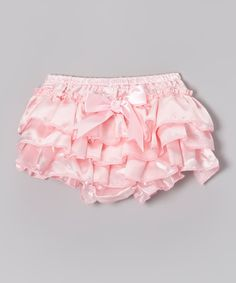 Take a look at this Pink Satin Ruffle Bloomers on zulily today!