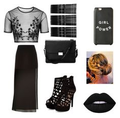 """Dark Style"" by juneisbest ❤ liked on Polyvore featuring Topshop, Aspinal of London, Monki, Lime Crime, women's clothing, women, female, woman, misses and juniors"