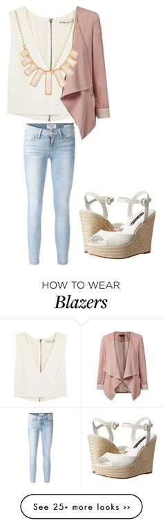 """Untitled #1313"" by chicace-9 on Polyvore featuring Alice + Olivia, Frame Denim and Rivka Friedman"