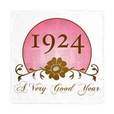 1924 Birthday For Her Cloth Napkins