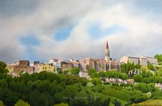 La Cadière d'Azur. Le village.