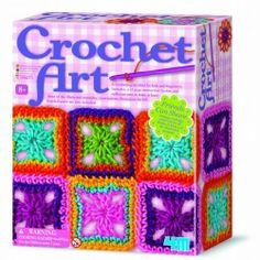 Crochet Art is an easy craft to learn, with this kit, the hardest part is choosing which project to make. This kit comes with a plastic crochet needle and thread to make one of three projects: coaster, bag or a scarf. Arts And Crafts Kits, Craft Kits, Diy Kits, Craft Supplies, Craft Projects, Crochet Art, Crochet Hooks, Crochet Ideas, Crochet Pattern