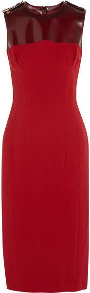 Sleeveless Silkcrepe and PVC Dress - BURBERRY PRORSUM