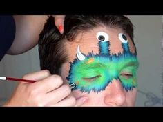 Cute furry monster mask that's easy and great for both boys and girls. #facepainttutorial