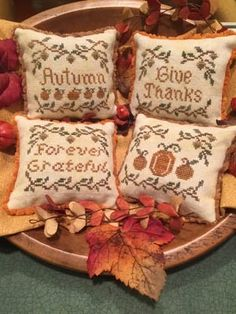 """Autumn Whimsies is the title of this cross stitch pattern from ScissorTail Design"" #crossstitch #crafts"