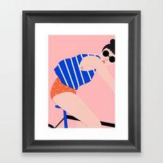 BIKE Framed Art Print Celéste