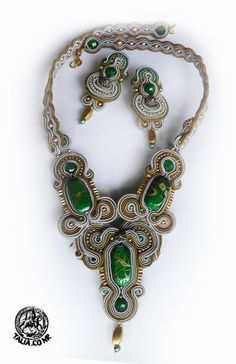 Soutache set in Green