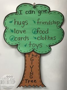The Giving Tree is the perfect story for integrating literacy and economics for young learners.