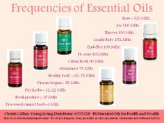 Young Living Essential Oils Frequencies. Please purchase from www.EssentialOilsEnhanceHealth.com