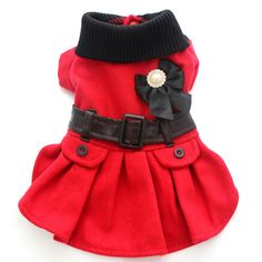 Pet dog dress Suit Coat Puppy Jacket clothes Bow&Belts design 4 sizes available Large Dog Clothes, Cute Dog Clothes, Puppy Clothes Girl, Pet Puppy, Pet Dogs, Pets, Pet Fashion, Animal Fashion, Dog Christmas Clothes