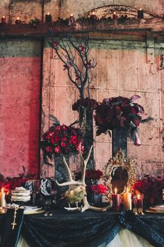 Swooning a little over this Alexander McQueen-inspired shoot! #darkromance