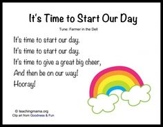 It's Time to Start Our Day