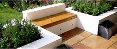 raised bed and seat combo