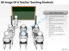 3D Image of a Teacher Teaching Students Ppt Graphics Icons Powerpoint #Powerpoint #Templates #Infographics
