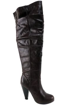 Kenneth Cole UNLISTED Women's Good Tuck Charm Over-The-Knee Boots Brown Sz 6.5 M #UnlistedbyKennethCole #OverKneeBoots #SpecialOccasion