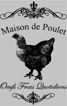 Maison de Poulet sign vinyl decal  French by MoreThanWordsVinyl, $18.00