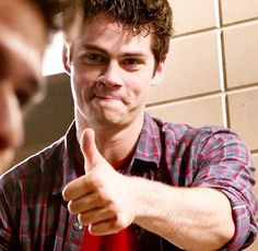 Dylan O'Brien - plaid shirt and adorable face