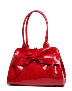 Lux de Ville Lady Lux Red Kiss Lock Purse re-pinned by http://stardust-eveningbags.co.uk