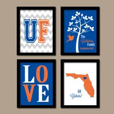 University of Florida College Go Gators Custom Family by trmDesign, $35.00