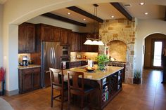 Great looking kitchen...love the beams.