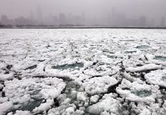Deep freeze: Extremely cold temperatures have frozen Lake Michigan, with the 'polar vortex' expected to glaciate other major waterways Lake Michigan Frozen, Lac Michigan, Chicago City, Chicago Skyline, Chicago Usa, Ice Lake, Weather Snow, Chicago Photos, Alien Worlds