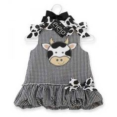 Polka Moo Bubble Dress