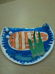 Preschool clown fish craft