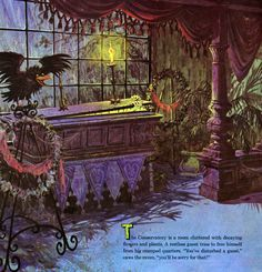 """""""The Story and Song from the Haunted Mansion"""" LP Illustration by Collin Campbell c. Arte Horror, Horror Art, Disney Magic, Disney Art, Walt Disney, Haunted Mansion Disney, Disney Kunst, Vintage Disneyland, Spooky Halloween"""