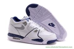 306252-114 White/Blue Nike Air Flight 89 Leather For Wholesale