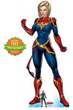 Check out our Captain Marvel Official Lifesize Marvel Cardboard Cutout which includes a Free table top stand up. Starstills offers Free UK delivery and worldwide shipping. Ms Marvel, Captain Marvel, Marvel Comics, Marvel Heroes, The Avengers, Marvel Future Fight, Fantasy Comics, Superhero Design, Marvel Entertainment