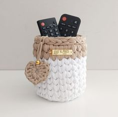 Crochet Box, Crochet Basket Pattern, Knit Basket, Crochet Potholders, Crochet Amigurumi, Crochet Motif, Easy Crochet, Knit Crochet, Crochet Patterns