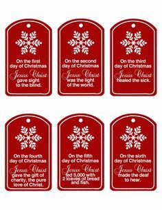Christ Centered 12 Days of Christmas ~ http://family-home-fun.blogspot.com/2011/12/christ-centered-12-days-of-christmas.html