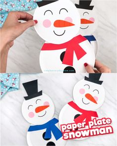 Paper Plate Snowman Craft For Kids Paper Plate Snowman Craft For Kids Fun Activities For Kids simpleeverydaymom Winter Activities For Kids Looking for a fun DIY nbsp hellip day crafts videos Preschool Christmas Crafts, Christmas Paper Crafts, Winter Crafts For Kids, Holiday Crafts, Snowman Crafts For Preschoolers, Snowman Craft Preschool, Penguin Craft, Preschool Winter, Kids Christmas