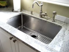 Kraus Stainless Steel Kitchen Sinks look amazing in your kitchen, especially if you're remodeling.  These sinks are made of high quality stainless steel, but can be purchased at low prices http://zigsbyskitchen.com/kitchen-sinks/stainless-steel-kitchen-sinks/shopby/kraus.html
