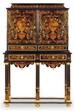 Exceptional cabinet. Attributed to Pierre Gole (1620-1685). Louis XIV era