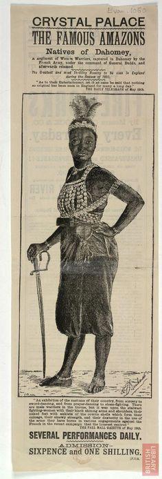 Crystal Palace, Sydenham. Amazon Natives of Dahomey, 1893