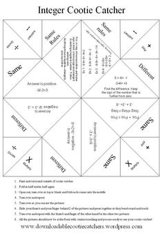 math worksheet : integer football  integers football and worksheets : Rules For Adding And Subtracting Integers Worksheet