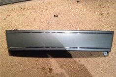 Platinum grey front Plate delete panel