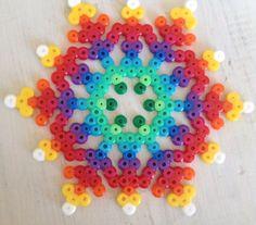 Copo de nieve multicolor
