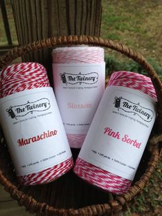 The Twinery  Bakers Twine  3 Rolls For Valentines  by erkline5898, $36.00