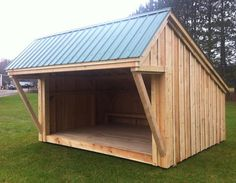 10x14 Lean To - Featuring a spacious deck and generous overhang for plenty of shelter for several people.