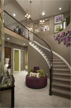 Living Room Design Under Stairs Decorate the space under your staircase in a contemporary style. Instead of devoting an entire room to the laundry why not just put it under the stair. Curved Staircase, Staircase Design, House Goals, Stairways, Home Fashion, My Dream Home, Dream Homes, Interior Design Living Room, Future House