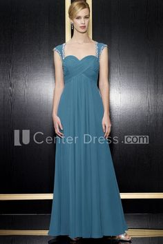 $122.59-Chic Empire Queen-Anne Criss-Cross Chiffon Long Mother of the Groom Dress With Zipper Back. http://www.ucenterdress.com/a-line-floor-length-empire-queen-anne-criss-cross-chiffon-formal-dress-with-zipper-back-and-beading-pMK_300226.html.  Tailor Made mother of the groom dress/ mother of the brides dress at #UcenterDress. We offer a amazing collection of 800+ Mother of the Groom dresses so you can look your best on your daughter's or son's special day. Low Prices, Free Shipping…