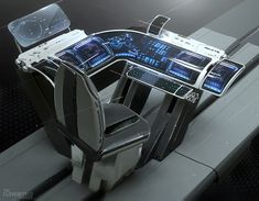 Console Concept for The Cloverfield Paradox Joshua Viers on ArtStation at - future - Technology New Technology Gadgets, Futuristic Technology, Technology Design, Cool Technology, Spy Gadgets, Energy Technology, Spaceship Interior, Futuristic Interior, Spaceship Design