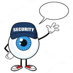 Blue Eyeball With Speech Bubble. Human Icons. $3.00