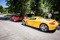 Porche Carrera GT & Enzo Ferrari