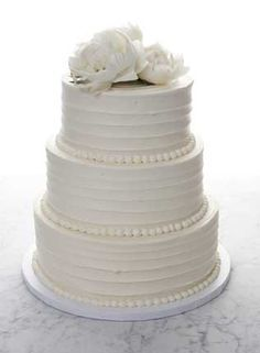 /bakednyc/ Wedding Cake--I love that it's all buttercream/no fondant.